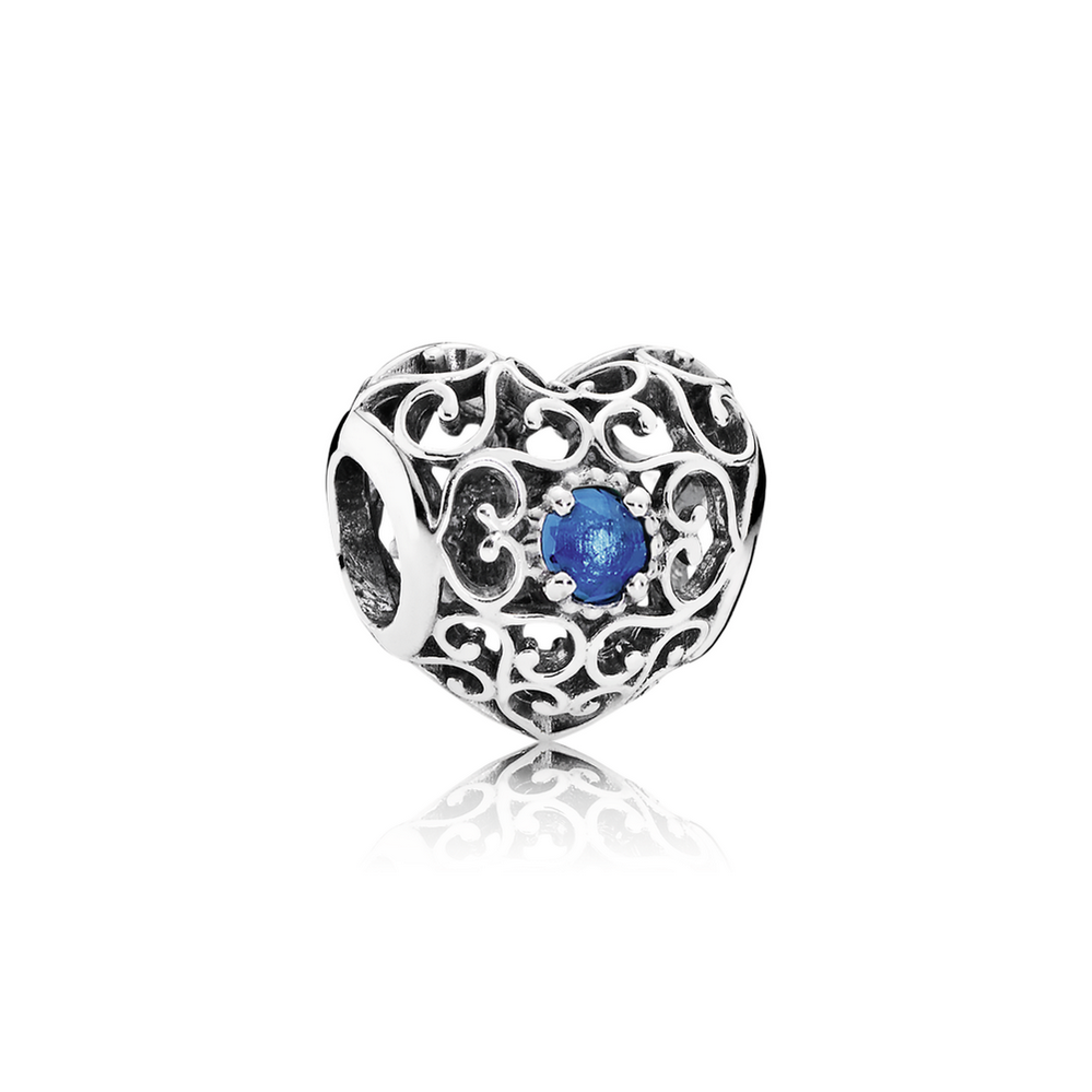 December Signature Heart, London Blue Crystal