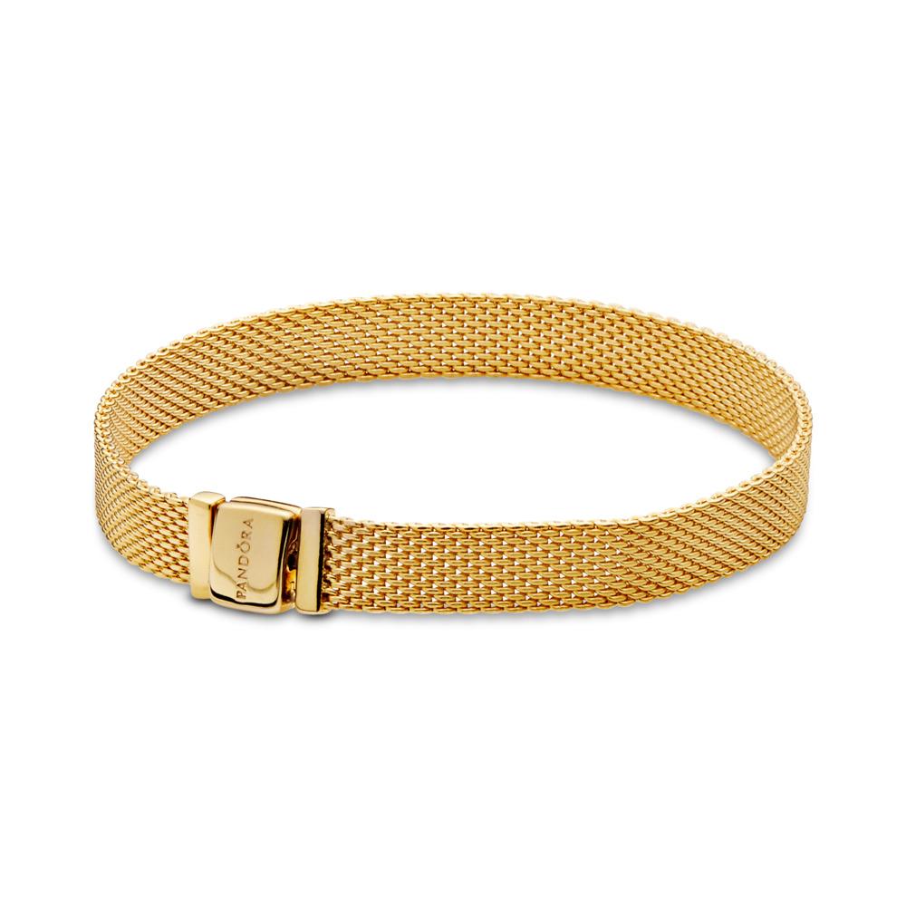 Bracelet PANDORA Reflexions, PANDORAShine, Or Plaqué 18ct, Aucun autre matériel, Aucune couleur, Aucune pierre - PANDORA - #567712