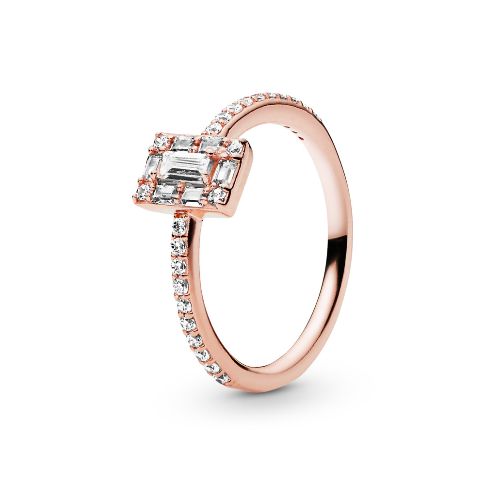 Luminous Ice Ring, PANDORA Rose™, PANDORA Rose, Cubic Zirconia - PANDORA - #187541CZ