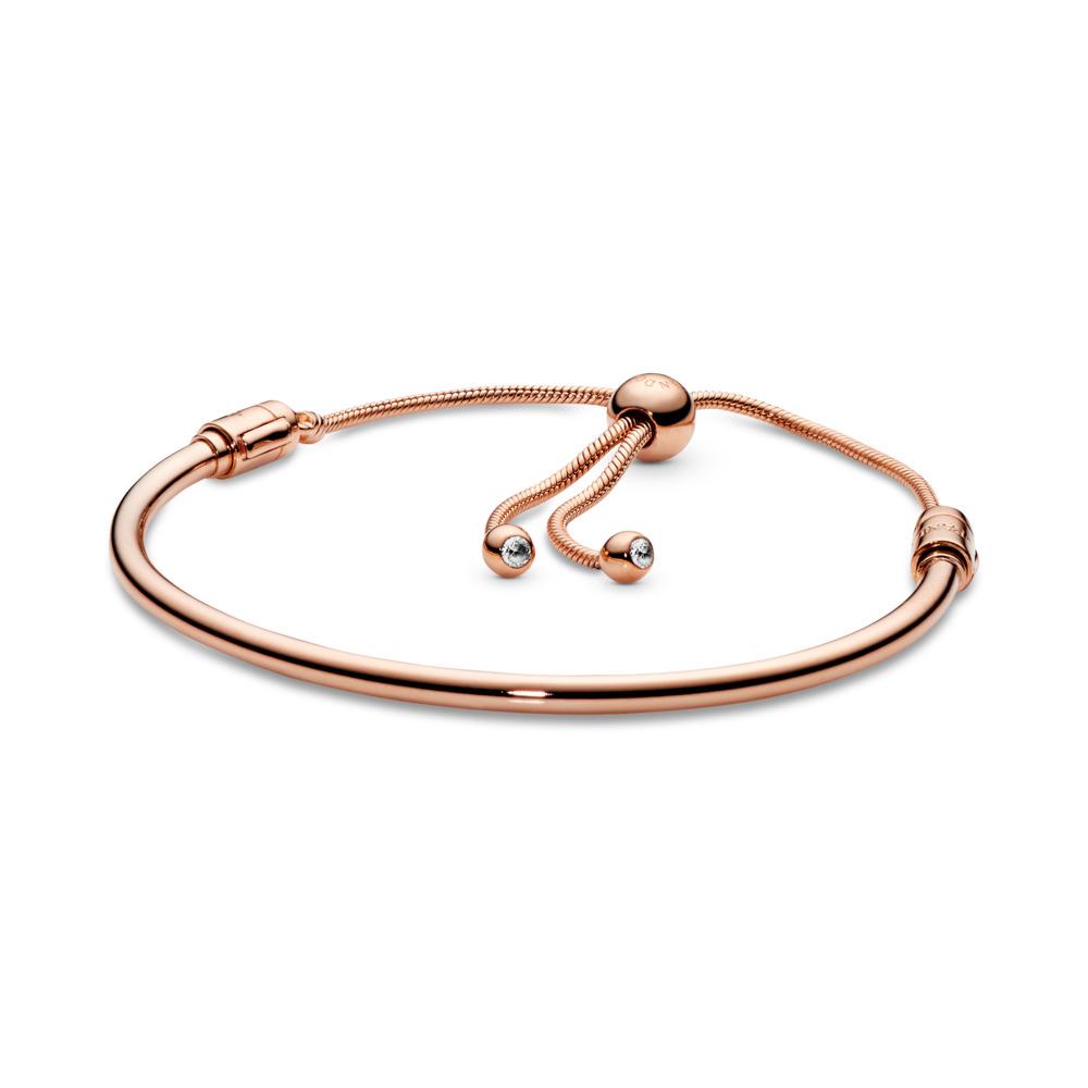 Bracelet de charms rigide coulissant Pandora Rose, PANDORA ROSE, Silicone, Aucune couleur, Zircon cubique - PANDORA - #587953CZ