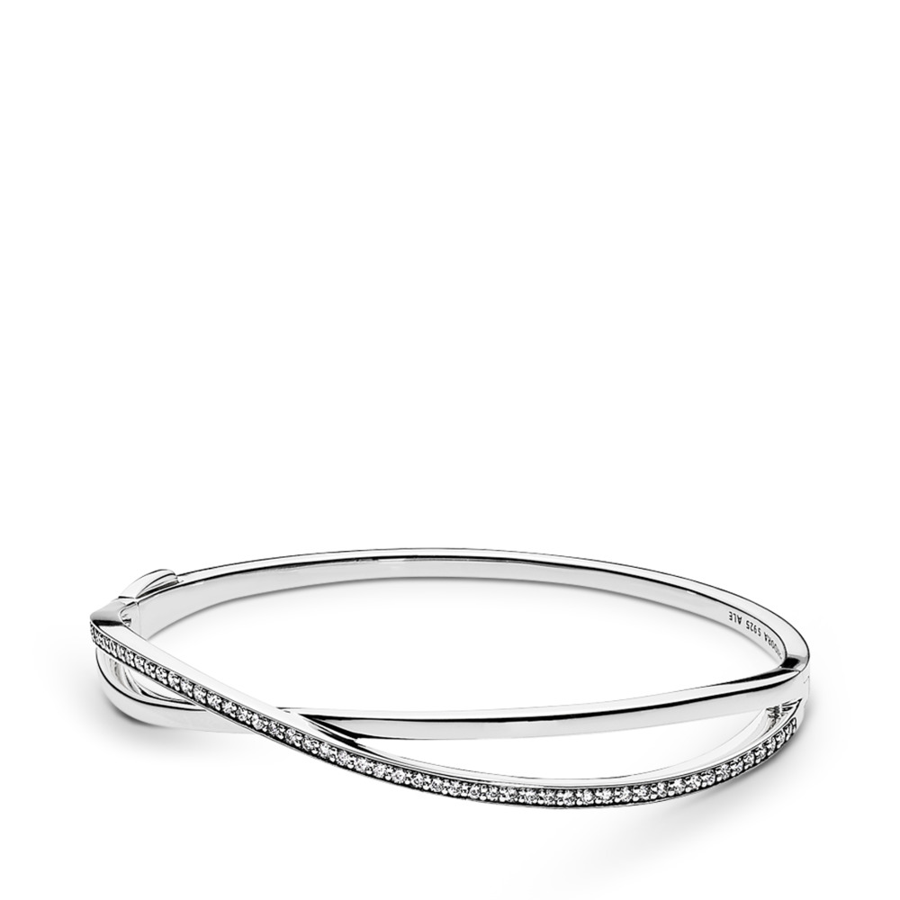 Entwined, Clear CZ, Sterling silver, Cubic Zirconia - PANDORA - #590533CZ