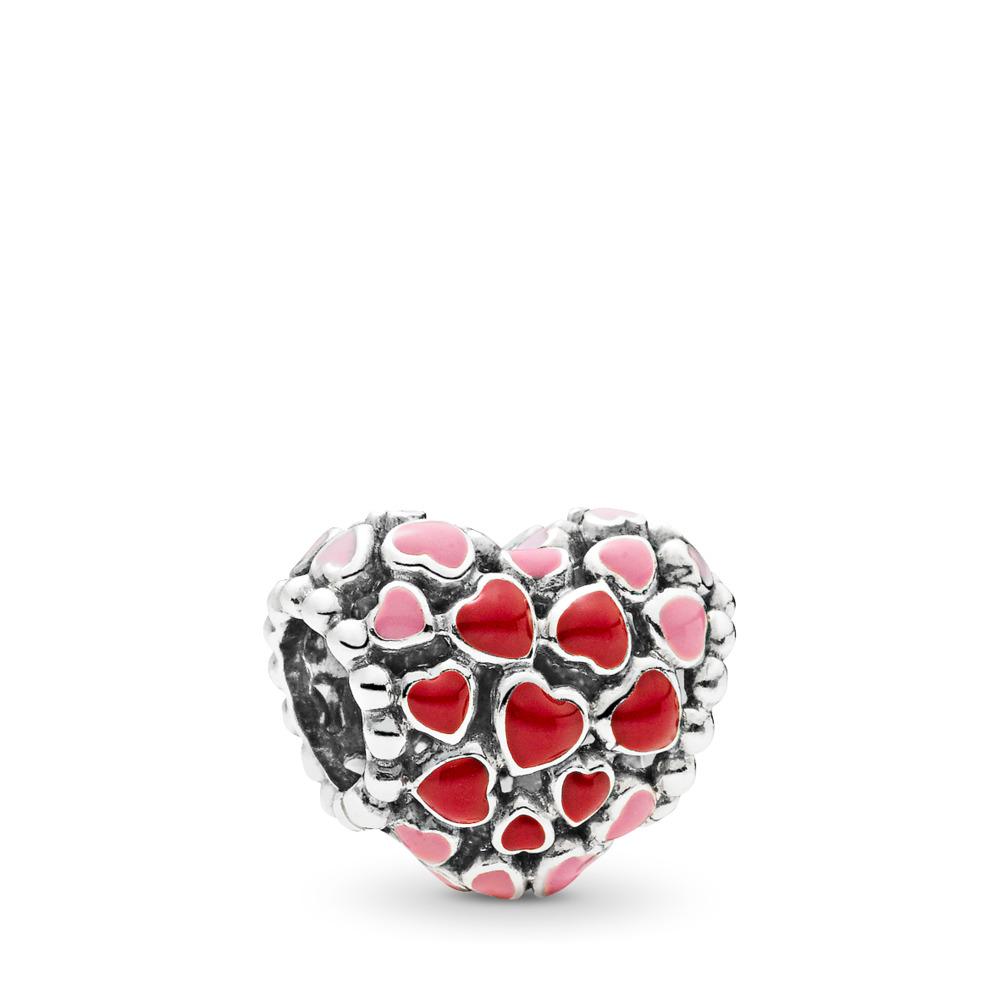 Charm Éclat d'amour, émaux mixtes, Argent sterling, émail, Rose, Aucune pierre - PANDORA - #796557ENMX