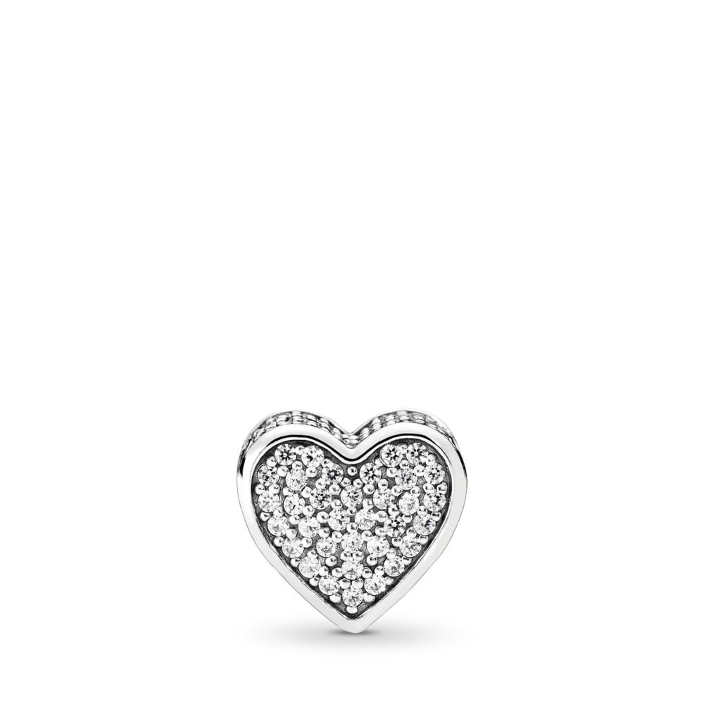 Amour, cz incolore, Argent sterling, Silicone, Aucune couleur, Zircon cubique - PANDORA - #796084CZ