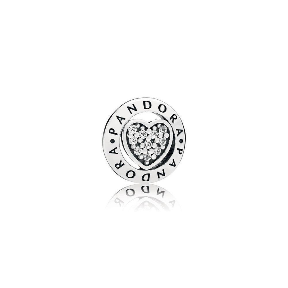 PANDORA Signature Heart Petite Charm