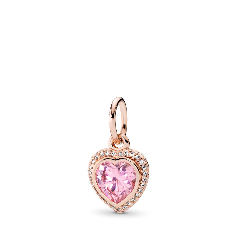 Amour brillant, Rose, cz rose poudré et incolore, PANDORA ROSE, Aucun autre matériel, Aucune couleur, Zircon cubique - PANDORA - #380366PCZ