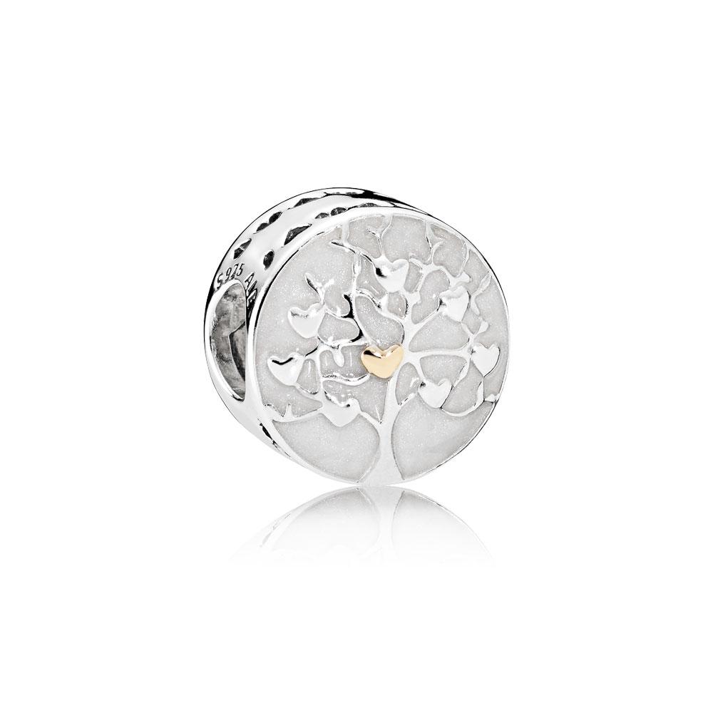 Tree of Hearts, Silver Enamel