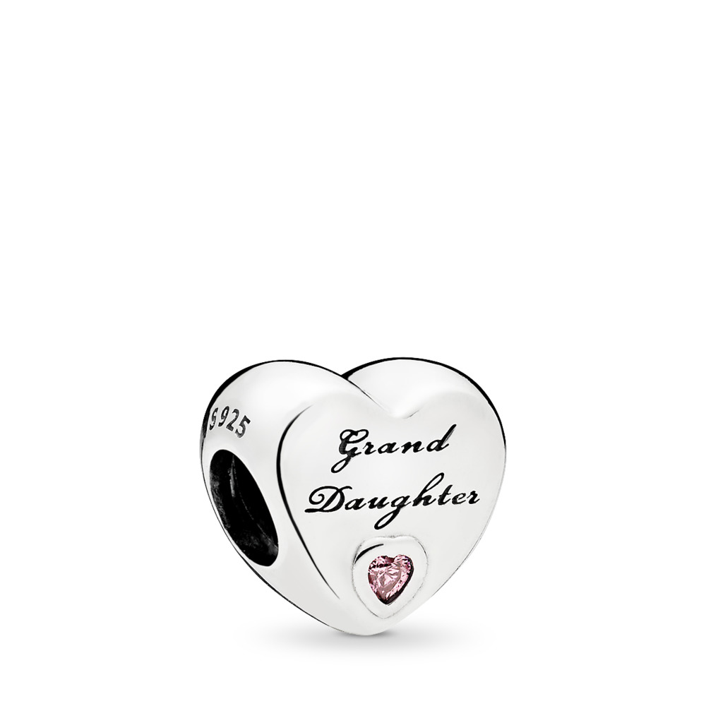 Granddaughter's Love, Pink CZ, Sterling silver, Cubic Zirconia - PANDORA - #796261PCZ