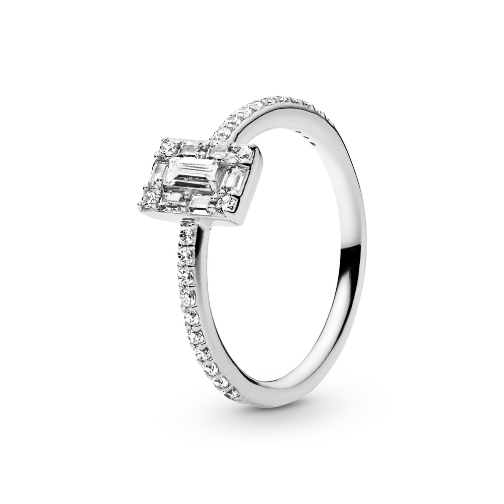 Luminous Ice Ring, Sterling silver, Cubic Zirconia - PANDORA - #197541CZ