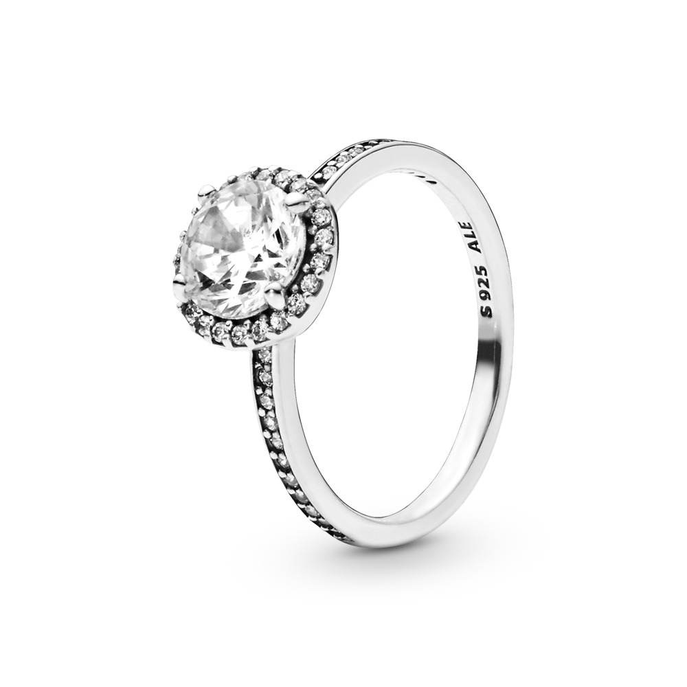 Classic Elegance, Clear CZ, Sterling silver, Cubic Zirconia - PANDORA - #196250CZ
