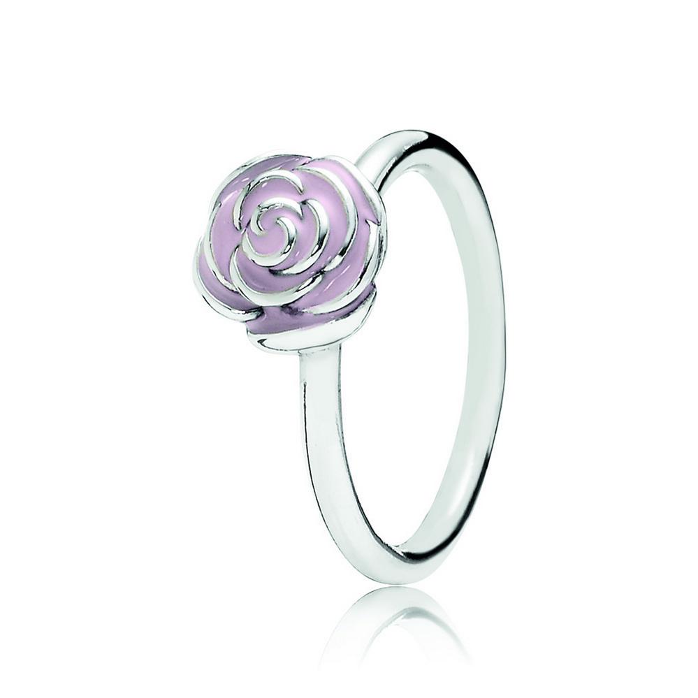 Rose de jardin, émail rose pastel