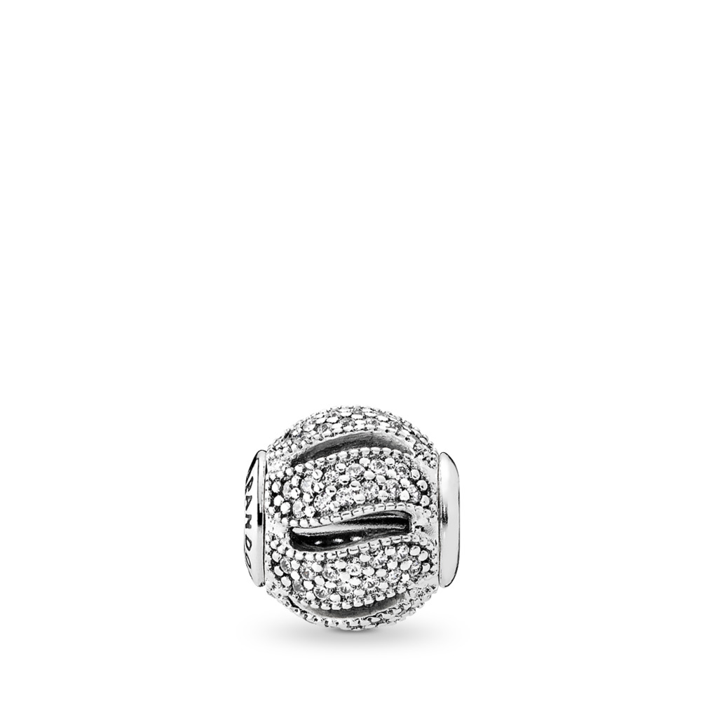 LOYALTY, Clear CZ, Sterling silver, Silicone, Cubic Zirconia - PANDORA - #796074CZ
