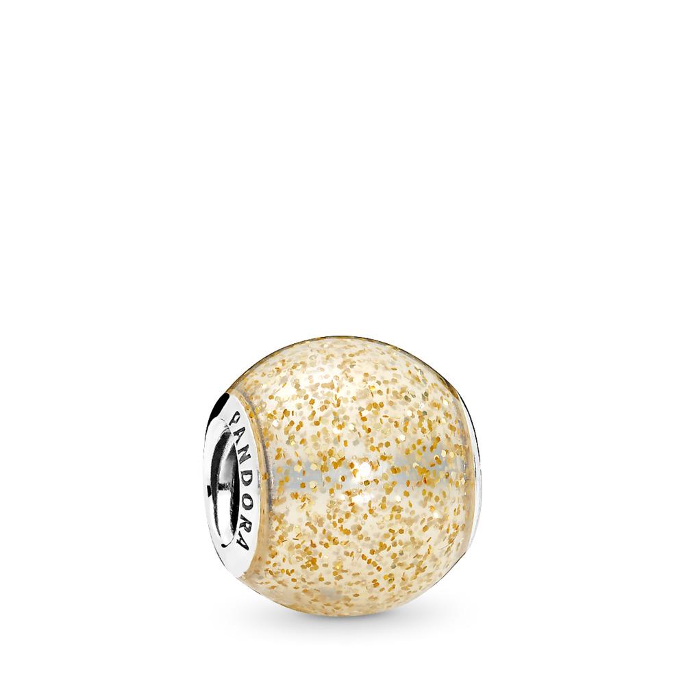 Boule miroitante, émail doré brillant, Argent sterling, émail, Jaune, Aucune pierre - PANDORA - #796327EN146
