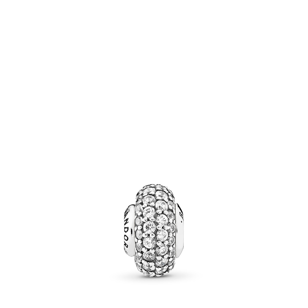 BALANCE, Clear CZ, Sterling silver, Silicone, Cubic Zirconia - PANDORA - #796088CZ