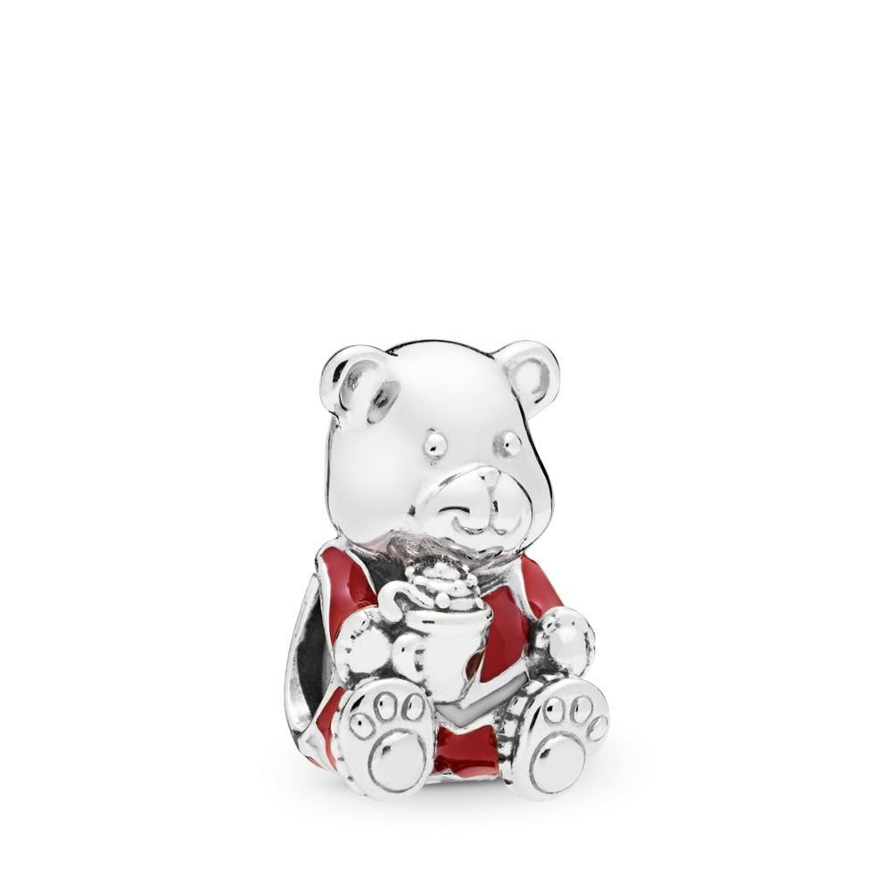 Limited Edition Christmas Bear Charm, Sterling silver, Enamel - PANDORA - #797564ENMX