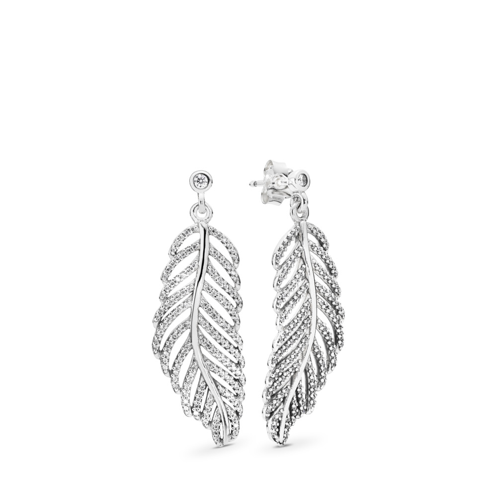 c08e39790 Light as a Feather, Clear CZ, Sterling silver, Cubic Zirconia - PANDORA -