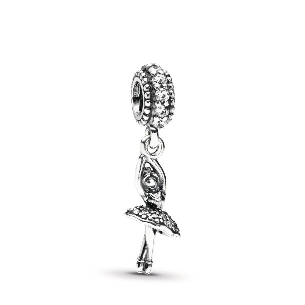 Ballerina, Clear CZ, Sterling silver, Cubic Zirconia - PANDORA - #791365CZ