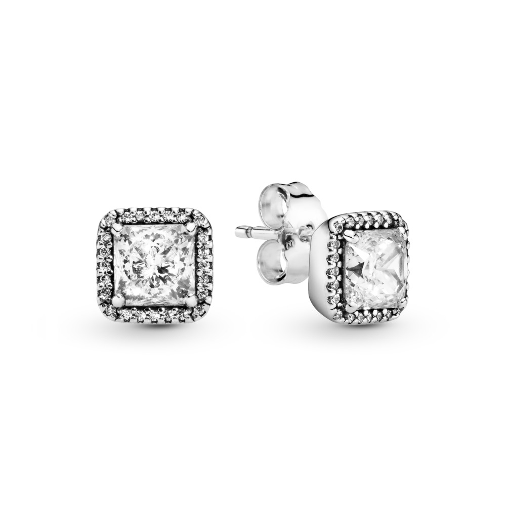 Timeless Elegance, Clear CZ, Sterling silver, Cubic Zirconia - PANDORA - #290591CZ