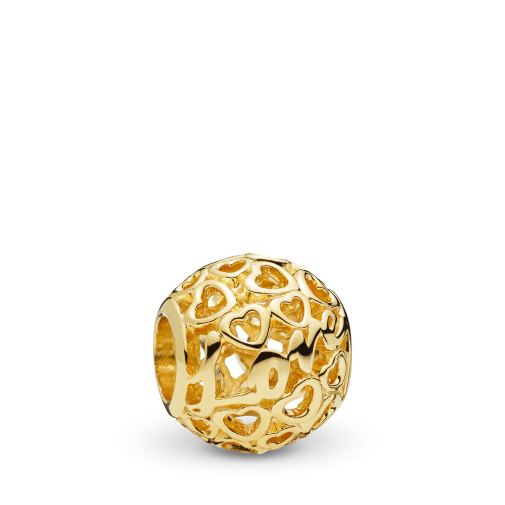 Glowing with Love Charm, 14K Gold, Yellow Gold 14 k - PANDORA - #757539
