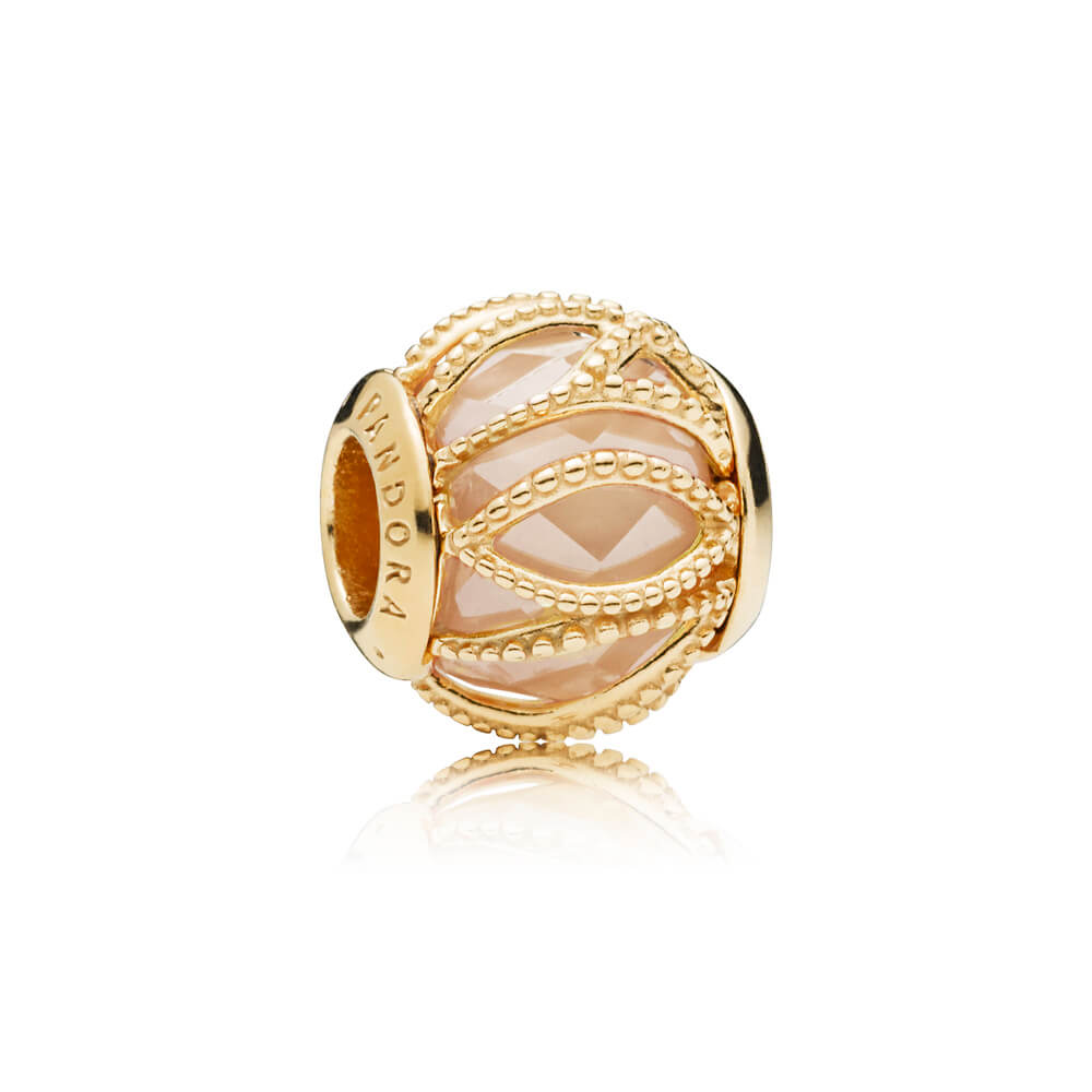 Intertwining Radiance Charm, PANDORA Shine™ & Golden coloured CZ
