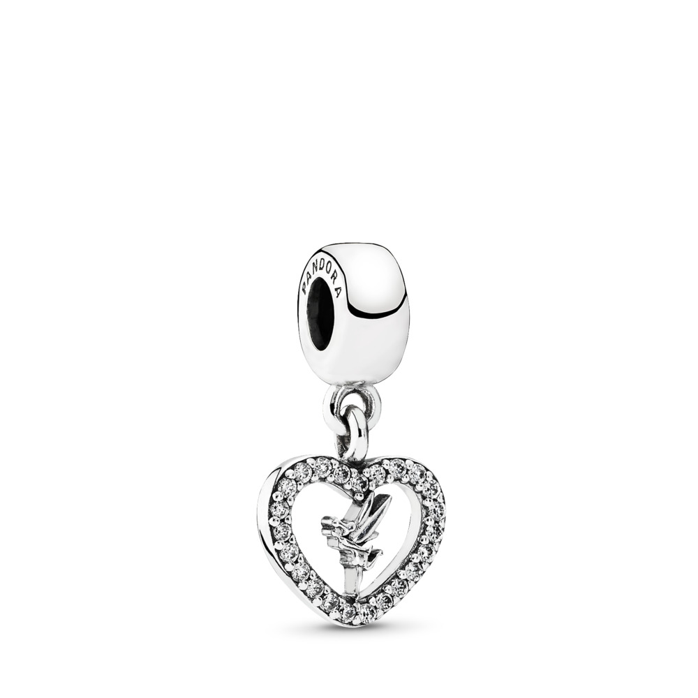 Disney, Love Tinker Bell, Sterling silver, Cubic Zirconia - PANDORA - #791565CZ