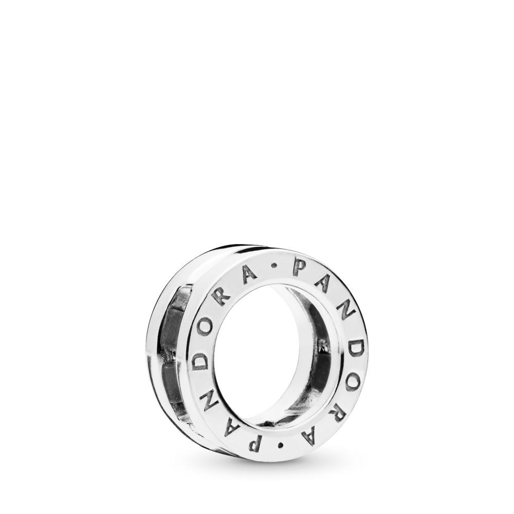 Charm à logo PANDORA Reflexions, Argent sterling, Silicone, Aucune couleur, Aucune pierre - PANDORA - #797598
