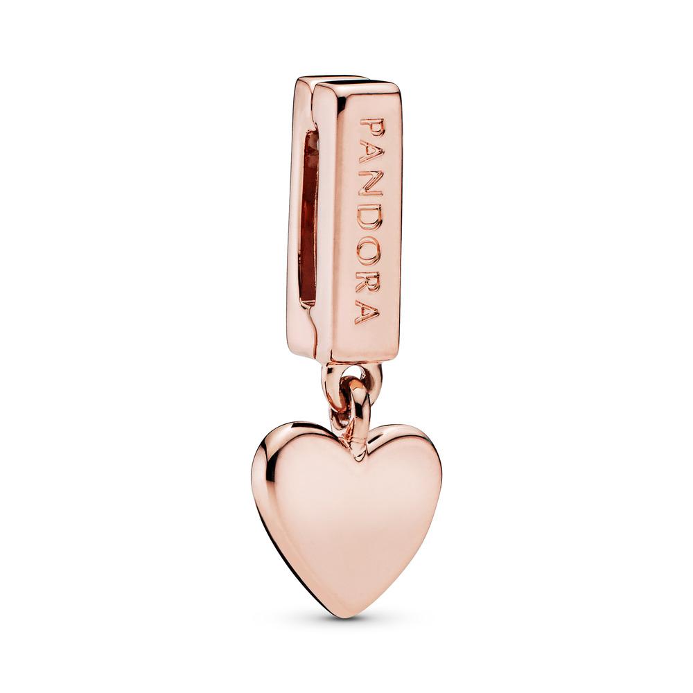 PANDORA Reflexions™ Floating Heart Charm, PANDORA Rose™, PANDORA Rose, Silicone - PANDORA - #787643