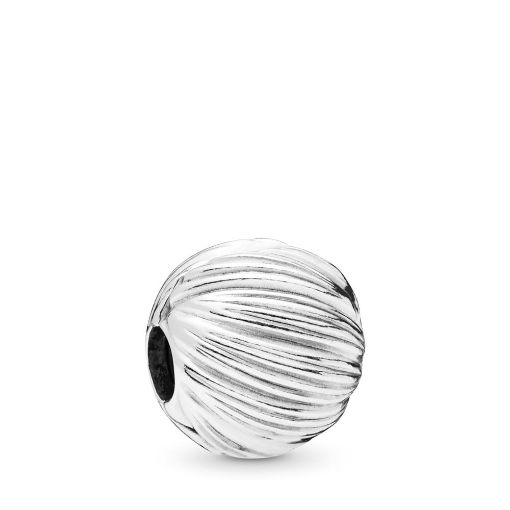 Clip Grains d'élégance, Argent sterling, Silicone, Aucune couleur, Aucune pierre - PANDORA - #797578