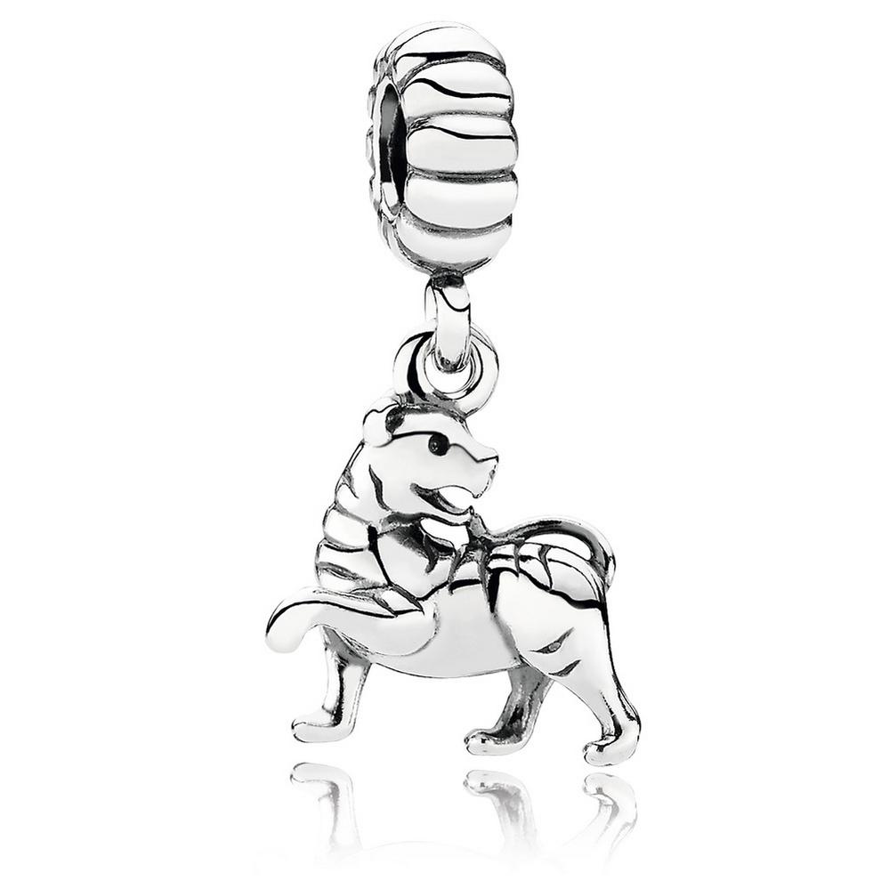 Tigress Silver Dangle Charm