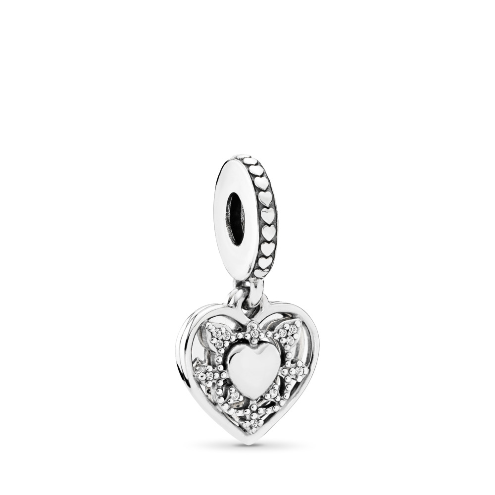 My Wife Always, Clear CZ, Sterling silver, Cubic Zirconia - PANDORA - #792099CZ