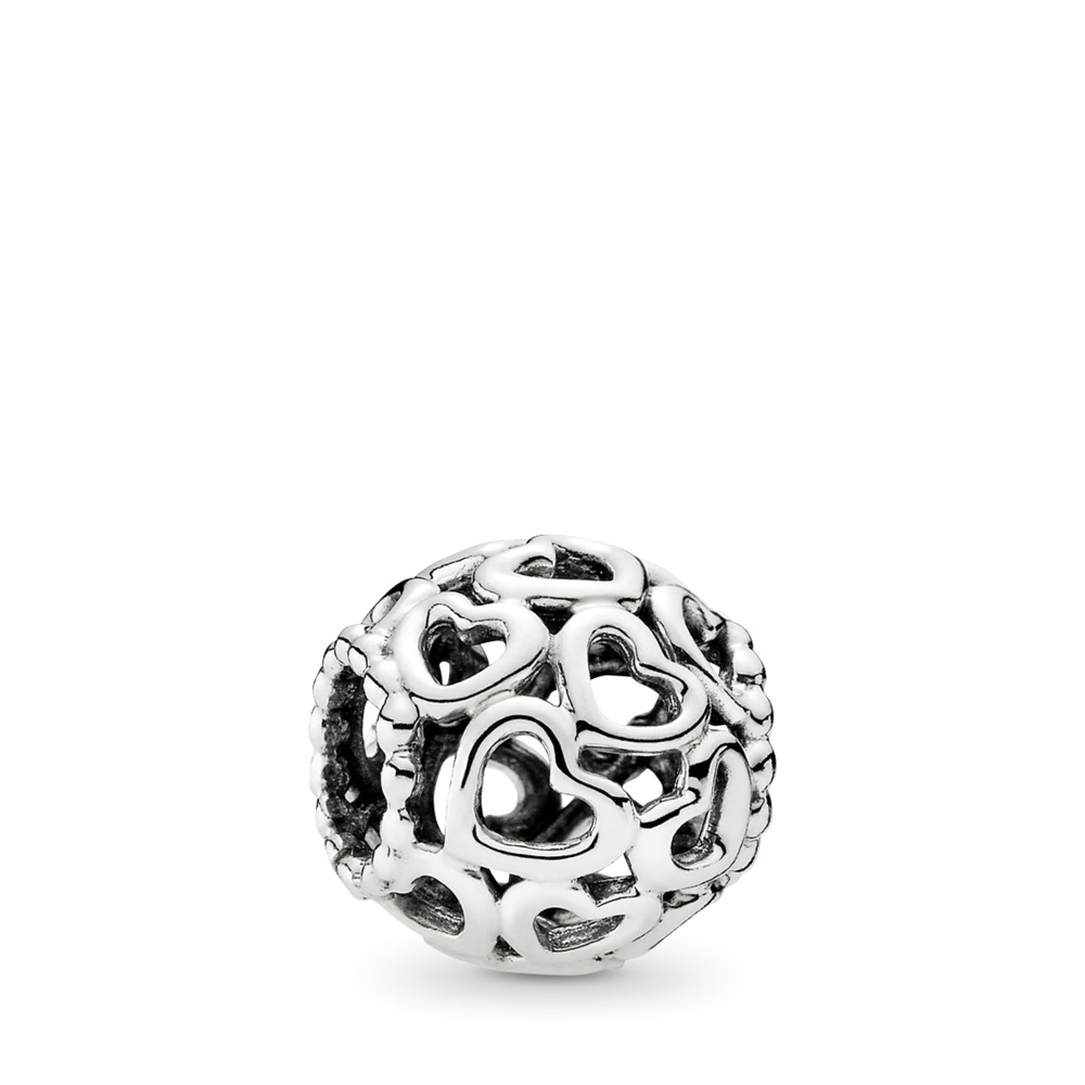 Hearts All Over Charm, Sterling silver - PANDORA - #790964