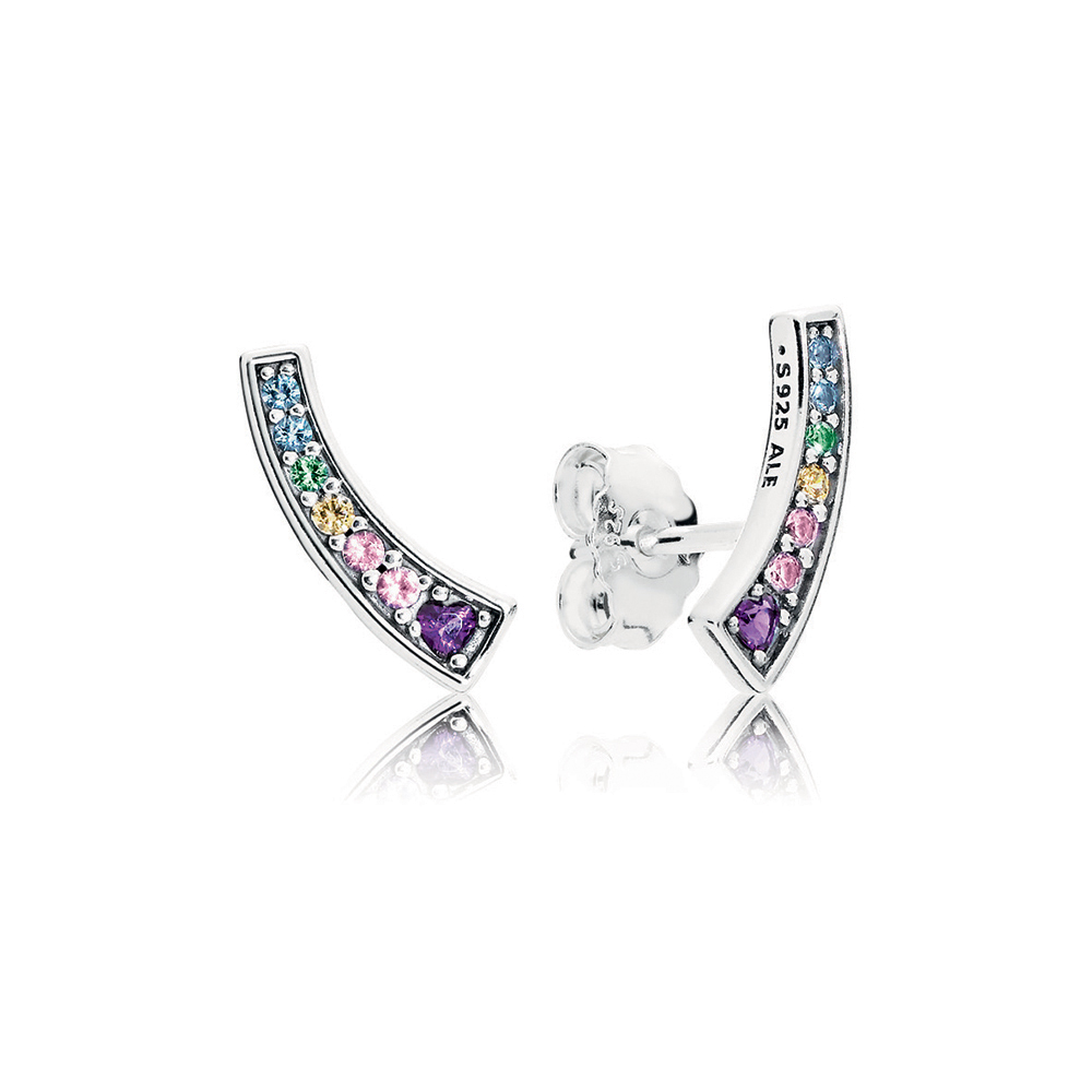 Limited Edition Multi-colour Arches Stud Earrings