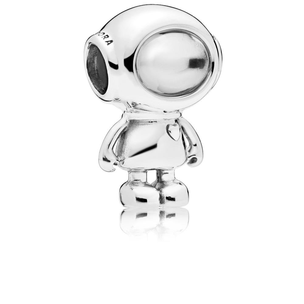 Charm Tommy le cosmonaute, Argent sterling, Aucun autre matériel, Aucune couleur, Zircon cubique - PANDORA - #797561CZ