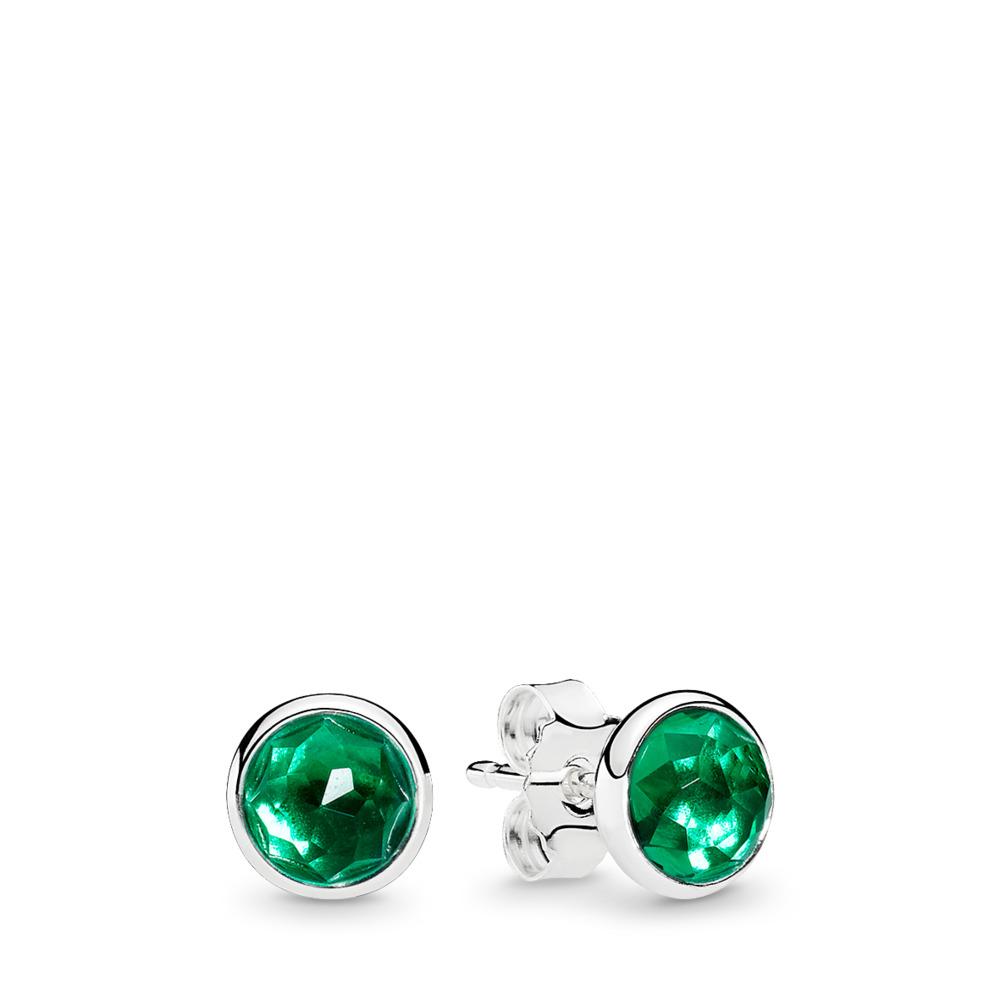 May Droplets, Royal-Green Crystal, Sterling silver, Green, Crystal - PANDORA - #290738NRG
