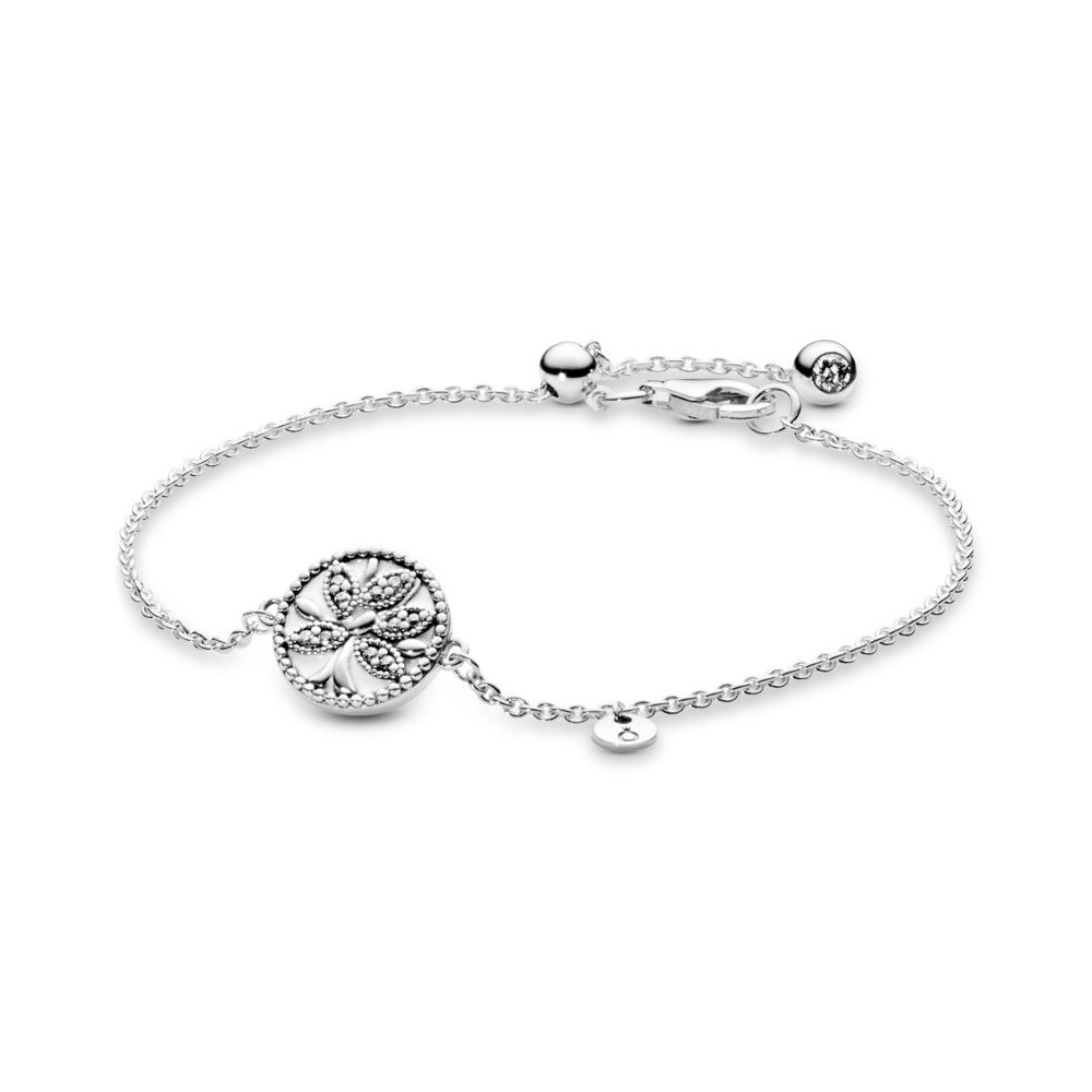 Pandora Tree of Life Bracelet, Sterling silver, Enamel, White, Cubic Zirconia - PANDORA - #597776CZ