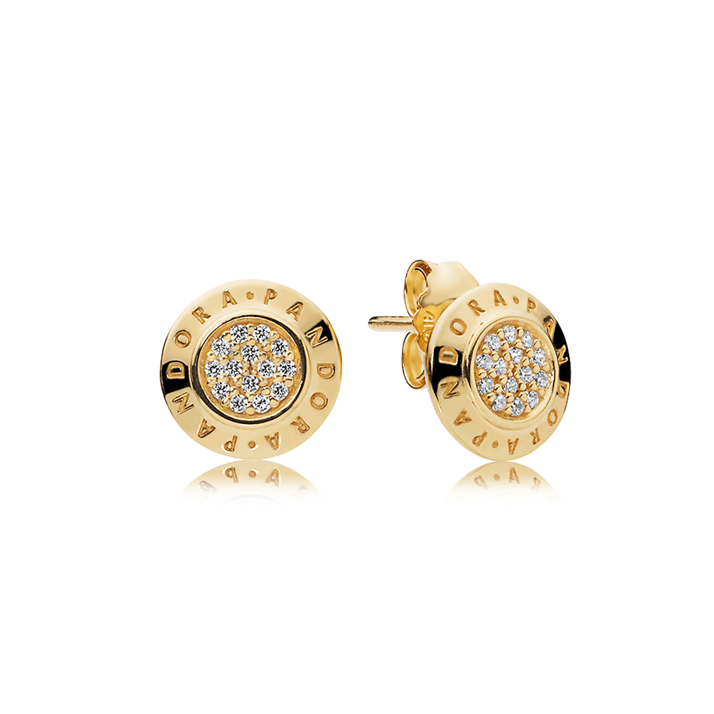 PANDORA Signature Earrings, PANDORA Shine™ & Clear CZ