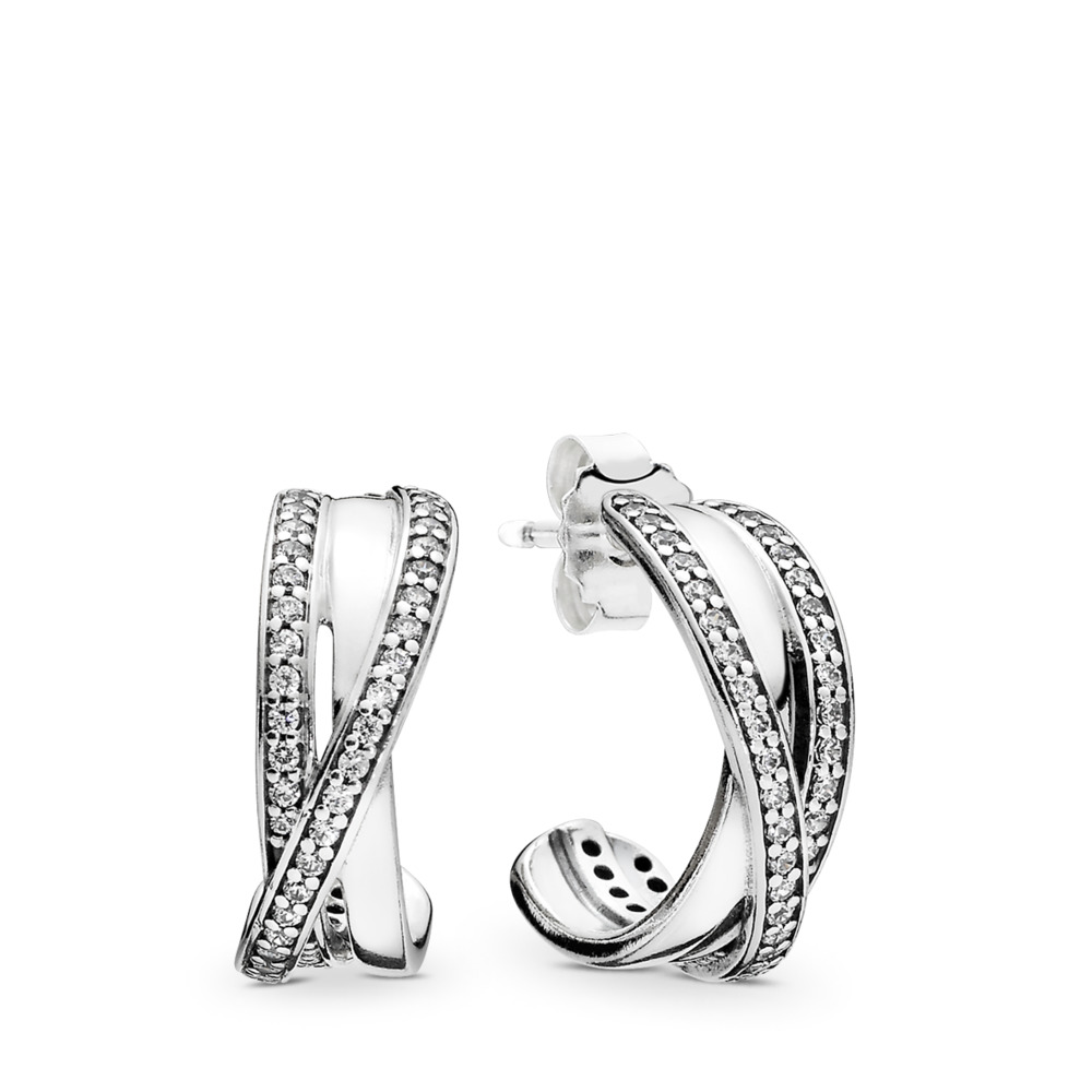 Entwined, Clear CZ, Sterling silver, Cubic Zirconia - PANDORA - #290730CZ