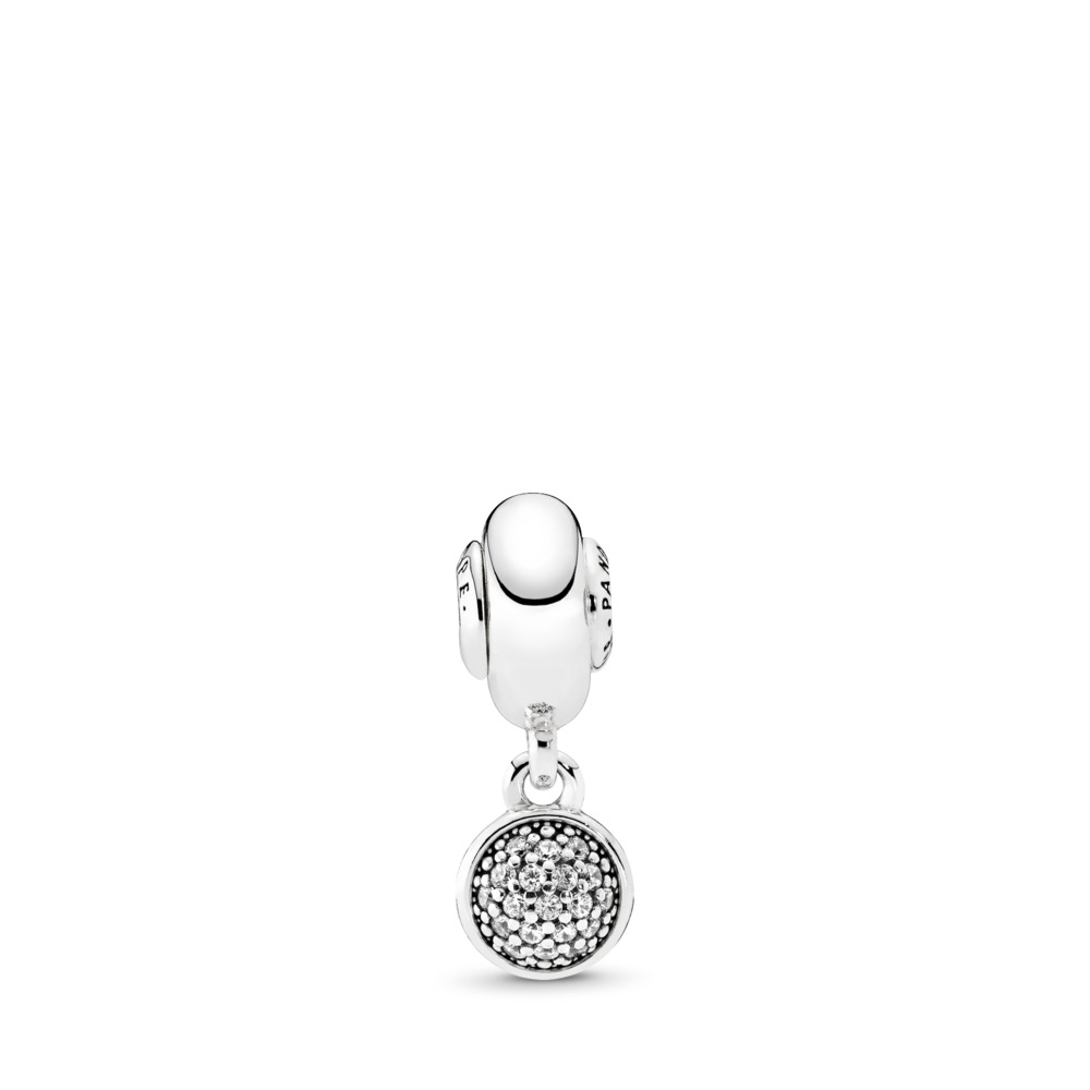 HOPE, Clear CZ, Sterling silver, Silicone, Cubic Zirconia - PANDORA - #796090CZ