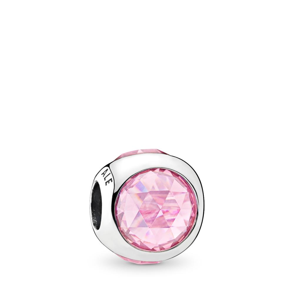 Radiant Droplet, Pink CZ, Sterling silver, Pink, Cubic Zirconia - PANDORA - #792095PCZ