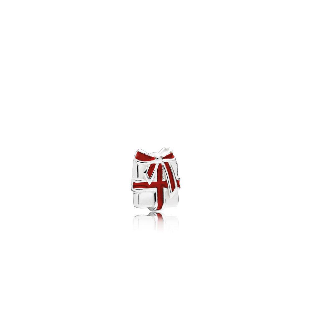 Mini Cadeau d'amour, émail rouge baie
