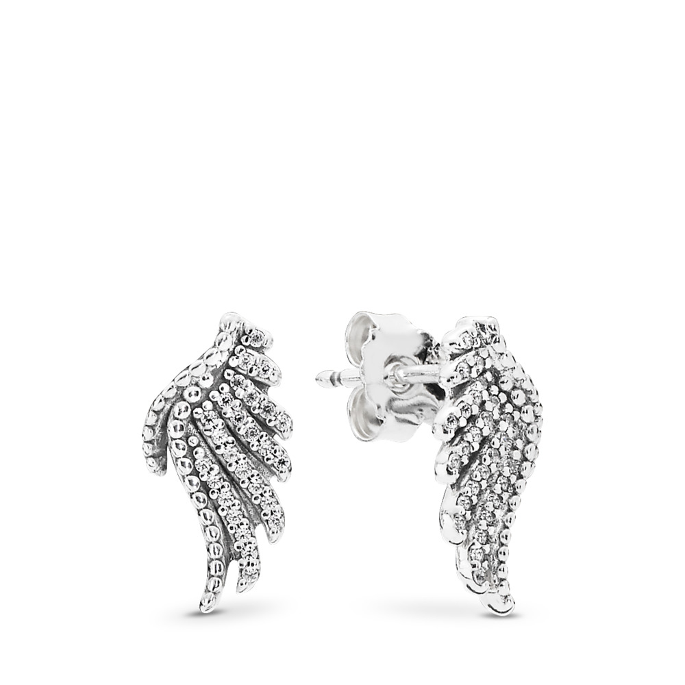 Majestic Feathers, Clear CZ, Sterling silver, Cubic Zirconia - PANDORA - #290581CZ