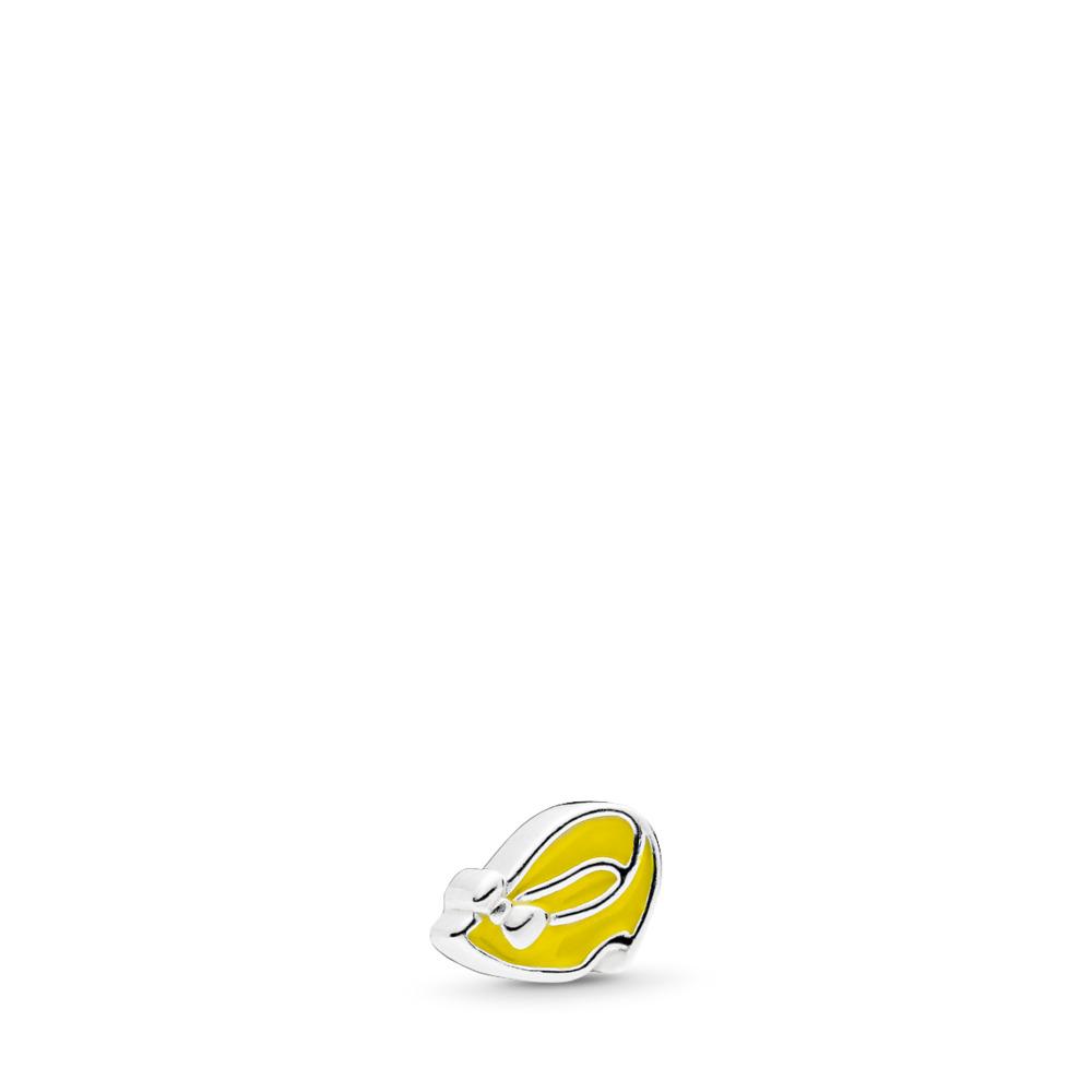 Mini Disney, Chaussure de Minnie, émail jaune pâle, Argent sterling, émail, Jaune, Aucune pierre - PANDORA - #796521EN06
