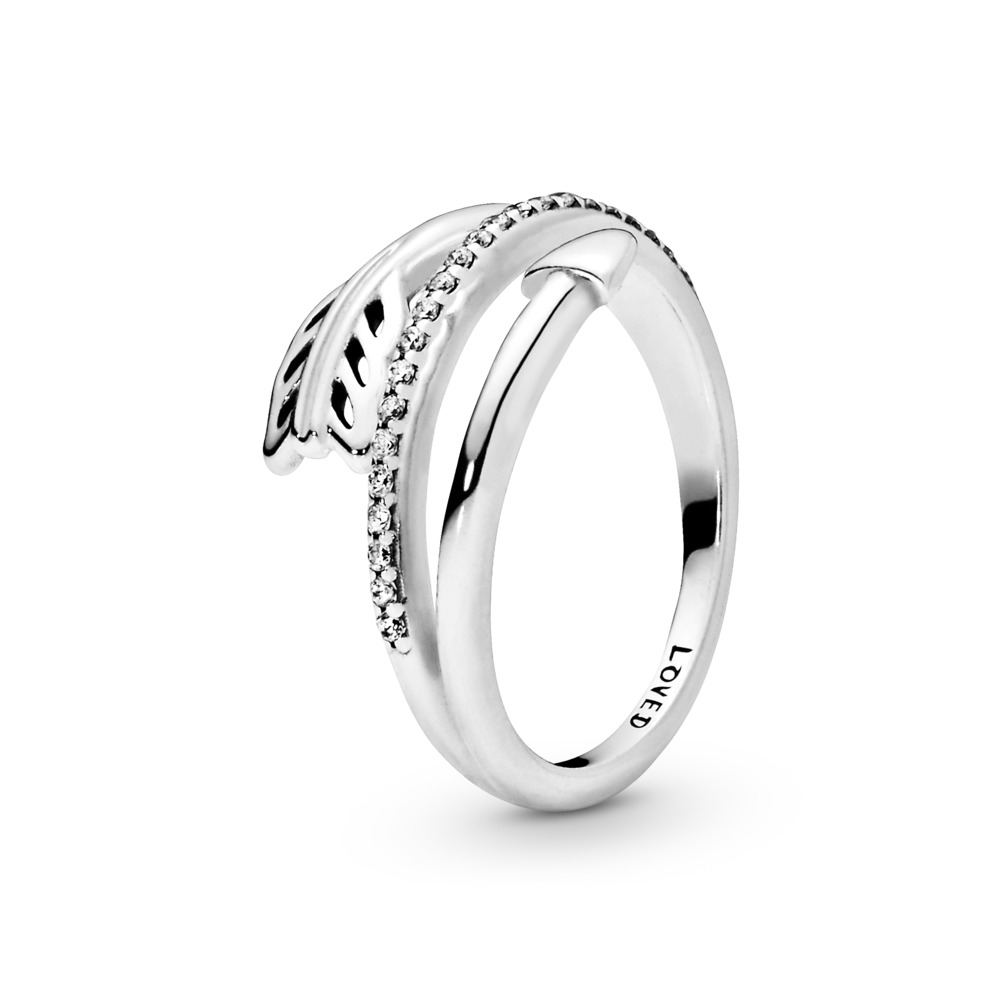 Sparkling Arrow Ring, Sterling silver, Cubic Zirconia - PANDORA - #197830CZ