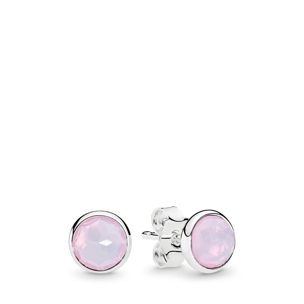 Gouttelettes d'octobre, cristal rose opalescent, Argent sterling, Aucun autre matériel, Rose, Cristal - PANDORA - #290738NOP