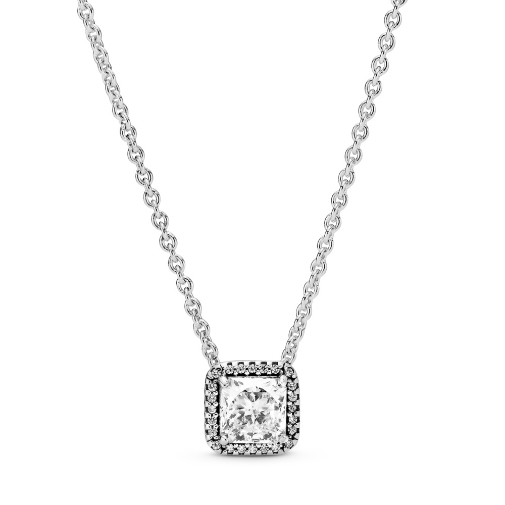 Timeless Elegance, Clear CZ, Sterling silver, Cubic Zirconia - PANDORA - #396241CZ