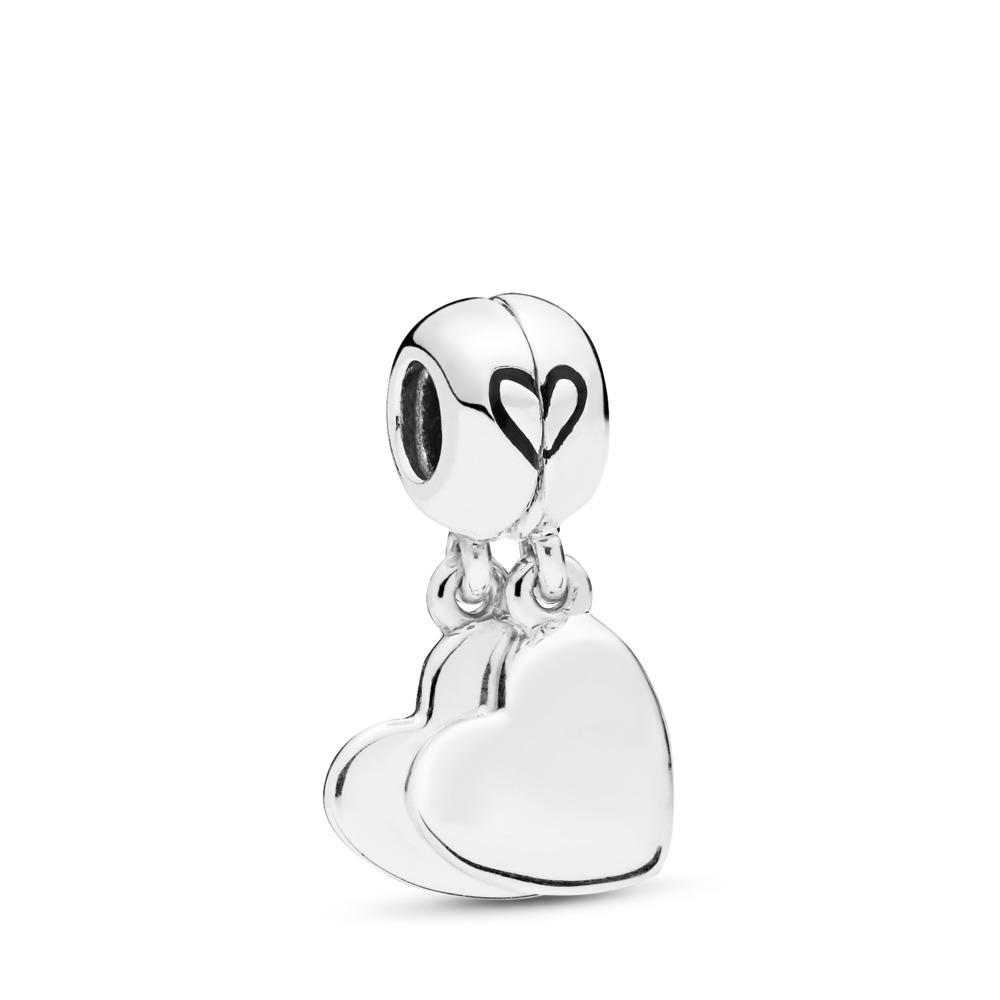Mother & Son Love Dangle Charms, Sterling silver, Enamel, Black - PANDORA - #797777EN16