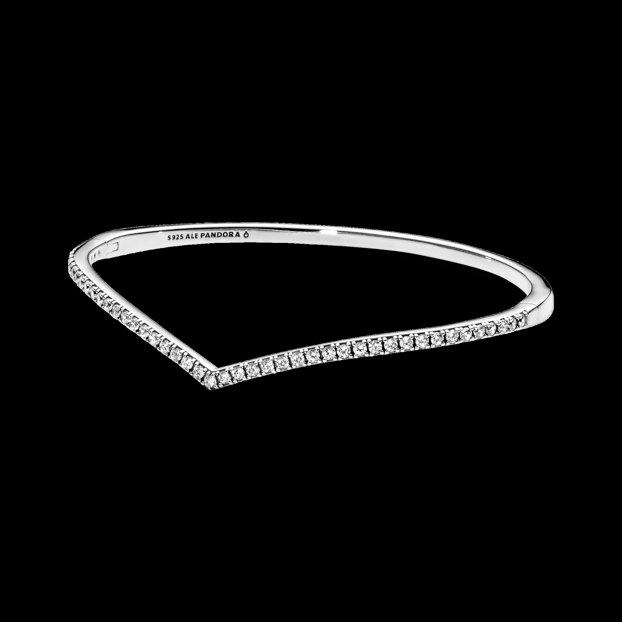 Bracelet rigide Os des vœux scintillant