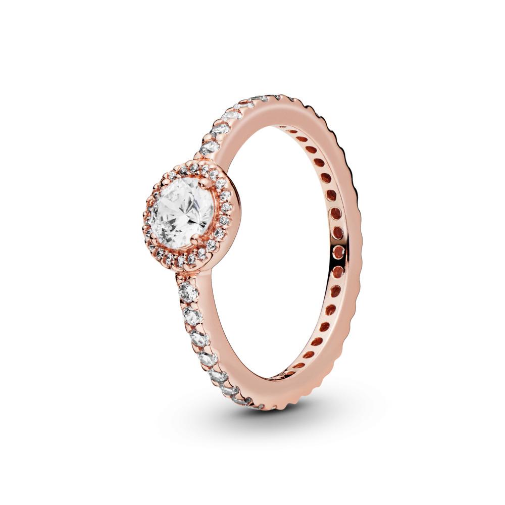 Classic Elegance, PANDORA Rose™ & Clear CZ, PANDORA Rose, Cubic Zirconia - PANDORA - #180946CZ
