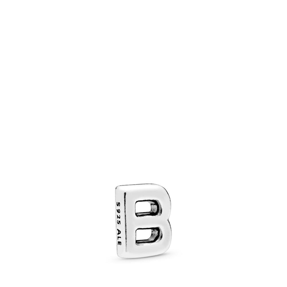 Mini Lettre B, Argent sterling, Aucun autre matériel, Aucune couleur, Aucune pierre - PANDORA - #797319