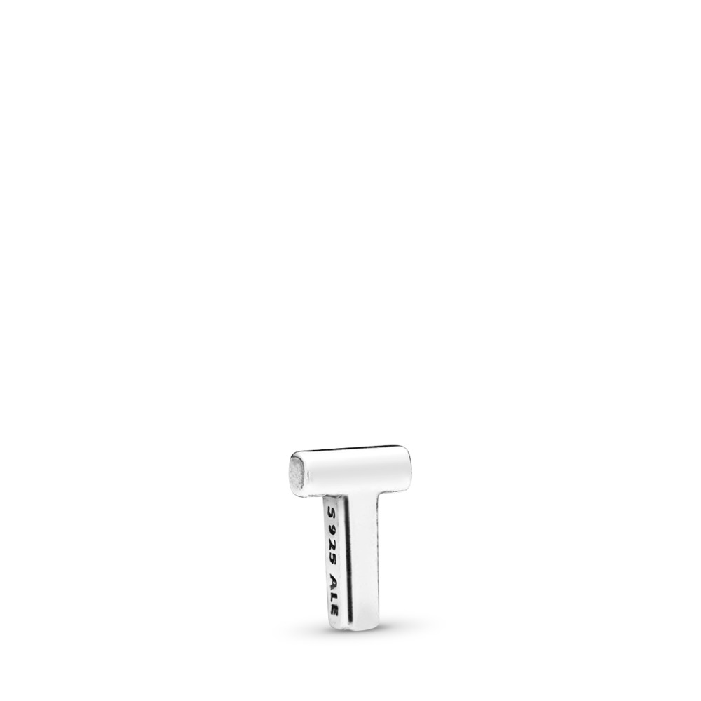 Letter T Petite Charm, Sterling silver - PANDORA - #797338