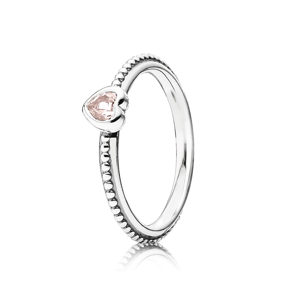 bfe78baba One Love Stackable Ring, Synthetic Pink Sapphire, Sterling silver, Pink,  Synthetic sapphire